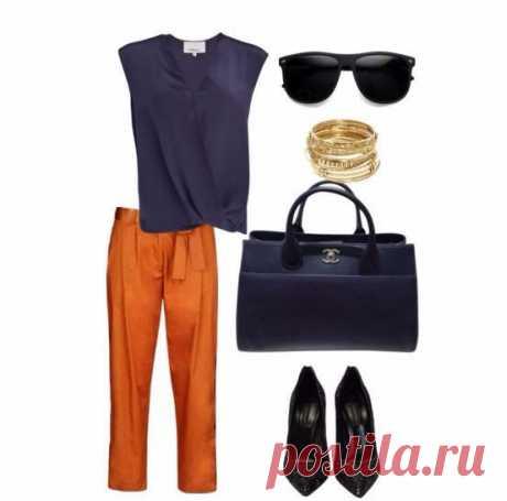 Look! Оранжевый + синий! — Модно / Nemodno