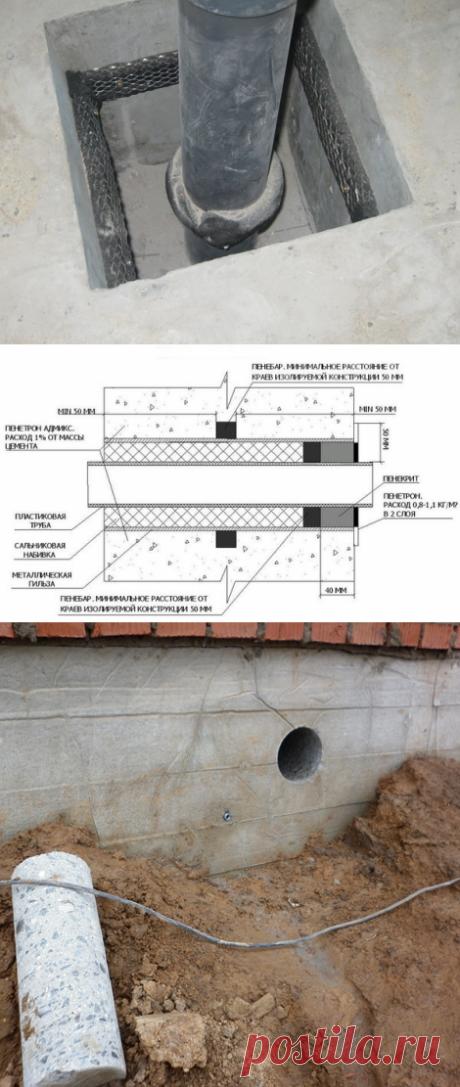 Обустройство прохода труб через стены и фундаменты загородных домов | Андрей Ратников | Яндекс Дзен
