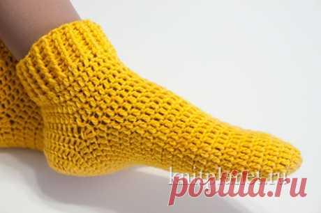 Вязание носков крючком. Пособие для начинающих. Видео урок по вязанию носков крючком | Планета Вязания