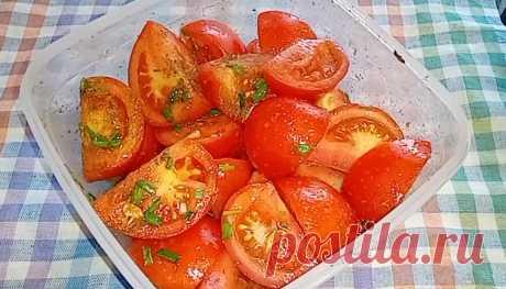 Острая закуска из помидоров🍅🍅🍅 - Приготовкино
