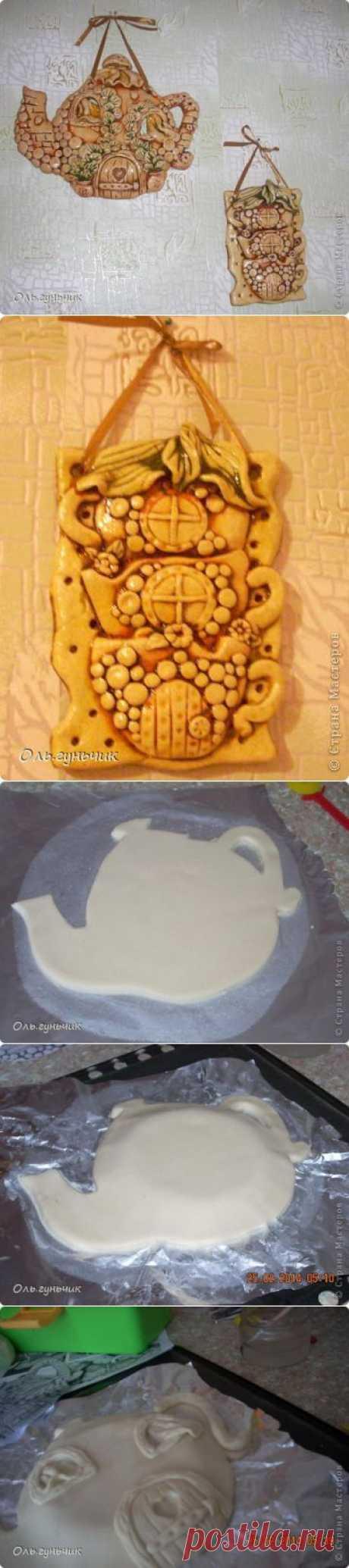 Чайник с чашечками из соленого теста. Автор Оль.гунчик | СДЕЛАЙ САМ!