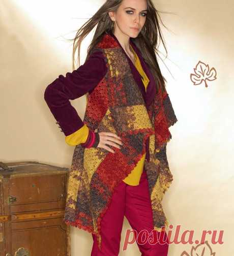 Vest from strips - the scheme of knitting by a hook. We knit Vests on Verena.ru