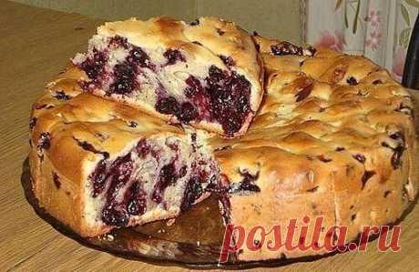 """""""Волшебный"""" пирог с чёрной смородиной! Только для подписчиков """"Любимые рецепты!"""""""