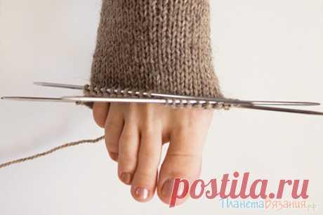 Вязание носков спицами. Пособие для начинающих. Видео по вязанию носков. | Планета Вязания