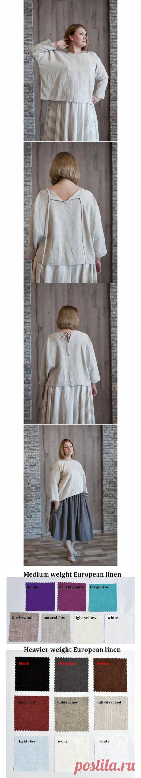 Women linen blouse with sleeves linen shirt women simple