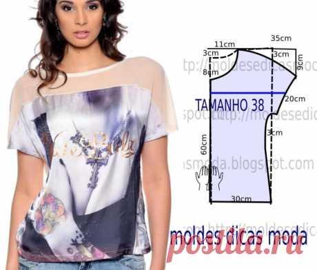 Шьем сами на жару Топ - 6 простых блуз с выкройками к лету | ВДОХНОВЕНИЕ РУКОДЕЛЬНИЦЫ | Яндекс Дзен