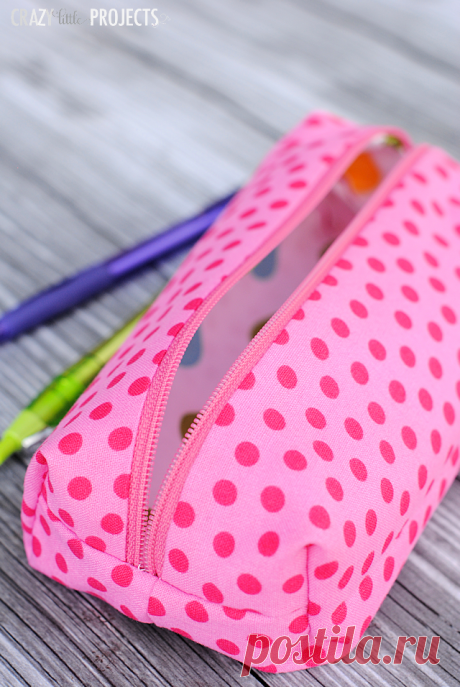 Pencil Case Tutorial & Tips for Cutting Fabric with a Cricut