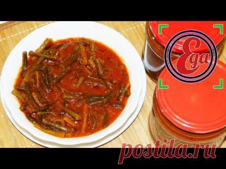 Пикантные чесночные стрелки в томатном соусе
