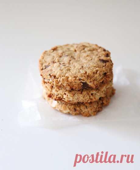 Миндально-овсяное печенье