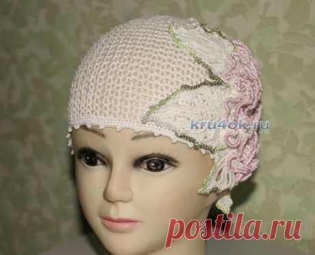 Вязанная крючком шапочка для девочки. Мастер-класс от Ефимии Андреевских