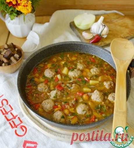 Итальянский суп с чечевицей, овощами и фрикадельками – кулинарный рецепт