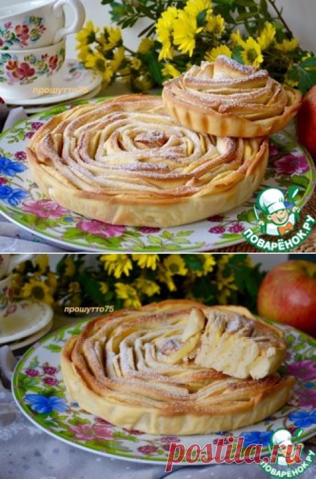 """Яблочный пирог """"Чайная роза"""" - кулинарный рецепт  =)"""