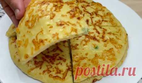 Сырный 🧀пирог на завтрак на сковороде - Лучший сайт кулинарии