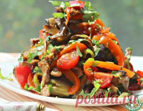 Салат с баклажанами как основное блюдо – кулинарный рецепт