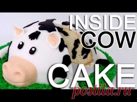 How-To ¡Make A COW CAKE with a INSIDE Cow Pattern!