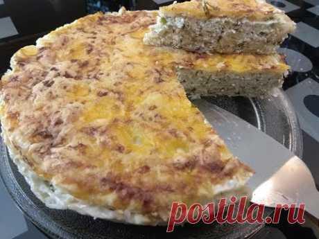 Соленый пирог с творогом (Аля Хачапури)