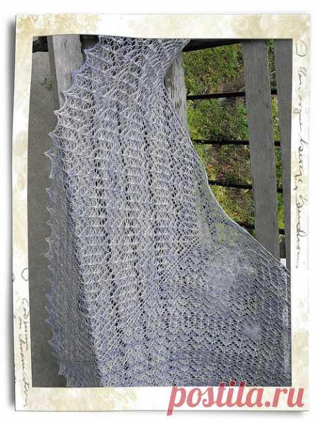 Шарфы и шали, вязаные спицами и крючком, схемы и описания - Вяжи.ру - модели 13