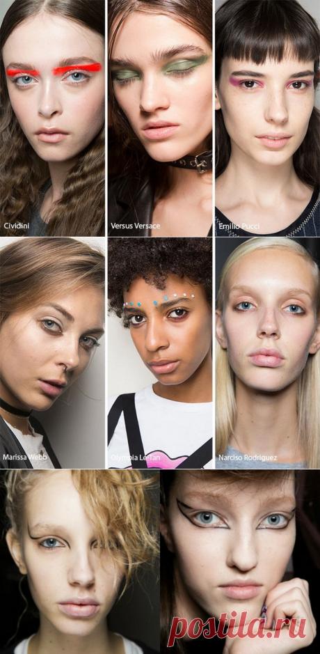 Модный макияж глаз 2017-2018 – тени, стрелки, лайнер