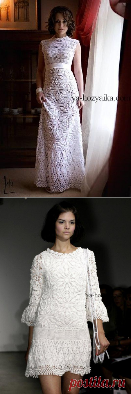Платье длиной в пол крючком описание. Платье с шишечками от Ребекки Тейлор