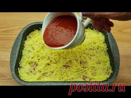 Картофель натереть на терке ❗❗ Приготовить невероятно вкусный ужин для всей семьи # 140🔝