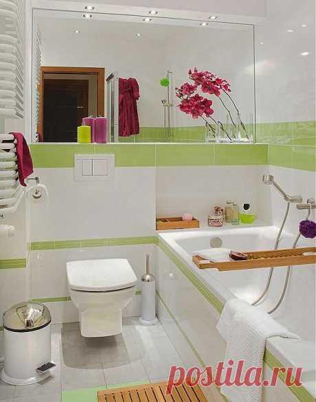 El diseño del pequeño cuarto de baño: que no era estrecho