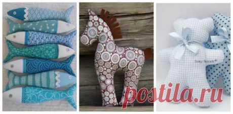 (27) Текстильные игрушки-подушки из самых простых выкроек: 22 примеров - Сам себе мастер - медиаплатформа МирТесен Текстильные куклы на любой вкус и для любого интерьера :) Business Class.