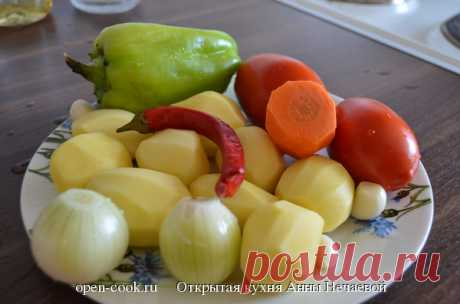 Свинина, тушеная с овощами, пошаговый рецепт с фото