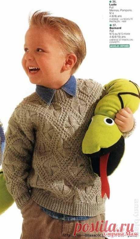 Джемпер для мальчика - Вязание - Страна Мам