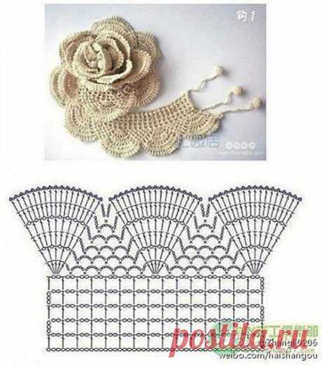 Шикарный цветок крючком — Сделай сам, идеи для творчества - DIY Ideas