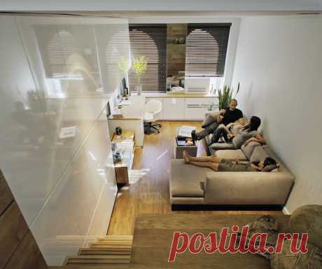 30 красивых проектов маленьких квартир: современные и стильные - Postel-Deluxe.ru