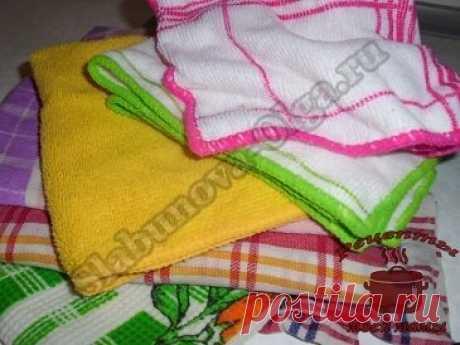 Как легко отстирать кухонные полотенца и салфетки | Твой Поваренок | Яндекс Дзен