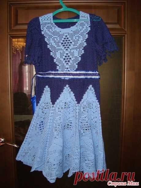 Платье для девочки крючком - Вязание для детей - Страна Мам