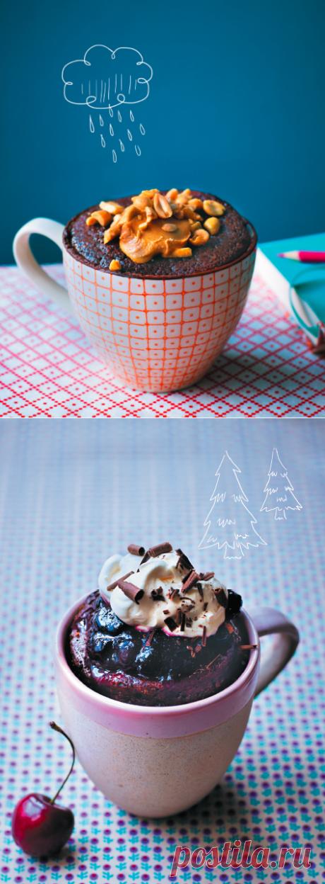 Кексы в кружке:  простое и вкусное лакомство в микроволновке.