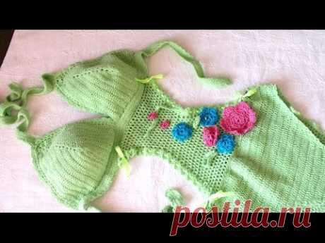 Связать купальник крючком how to crochet bikini swimsuit tutorial Maiô Body de Crochê - YouTube Нить бамбук стрейч