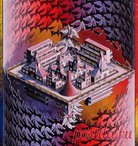Туннель мозаик Распознавание образов Картина Дэвида Хопа на тему вариации мозаик Эшера