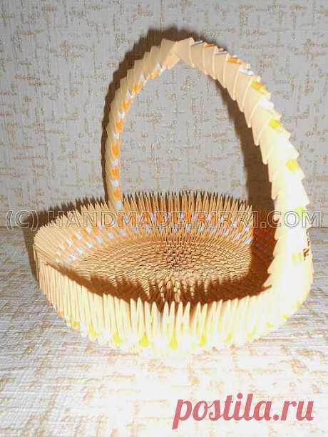 Корзинка, Ваза, Конфетница - Модульное оригами, Схема сборки, Пошаговые фото :: Блог Лики: Своими руками