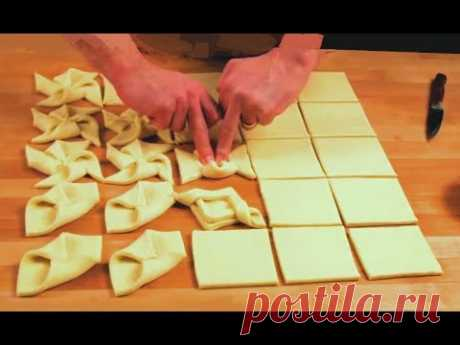 preparation of confectionery from puff pastry