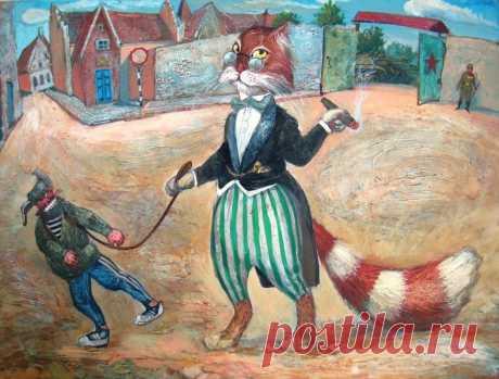 Los militares (¡y no sólo) los gatos del pintor Alejandro Zavaly - Para que nosotros vivían así!