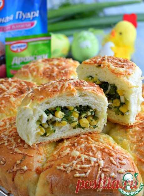 Пирог разборный с зеленью и кукурузой – кулинарный рецепт