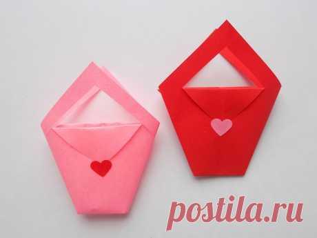 Как сделать маленькую сумочку из бумаги для детских игр | Поделки с детьми | Яндекс Дзен
