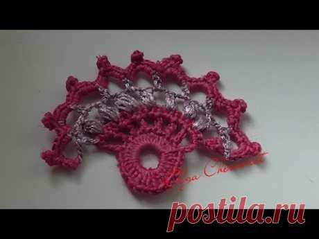 El encaje irlandés la flor веер.Irish lace flower