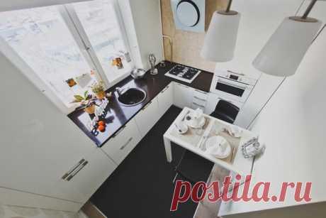 Дизайн маленькой кухни в однокомнатной квартире