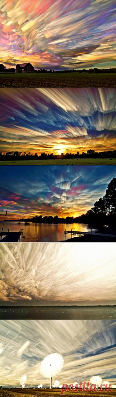 Необычное размытое небо в фотографиях Мэтта Моллоя