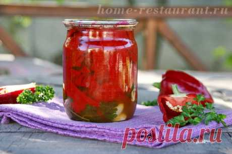 Перец в масле на зиму «Гармония» | Домашний Ресторан