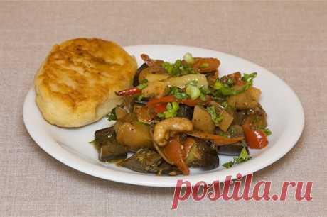 Овощное рагу с баклажанами и зеленью рецепт – основные блюда