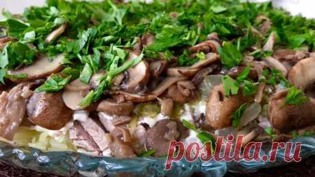 Лемберг — Салат. Попробовав на вкус, вы приготовите его еще не раз С этим рецептом можно не готовить на праздничный стол мясного горячего блюда, настолько он сытный и самодостаточный. Ингредиенты: картофель — 4 шт. лук — 1 шт. грибы — 500 г маринованные огурцы — 3-4 шт...