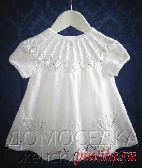 Детское платье спицами   ДОМОСЕДКА