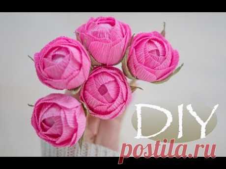 Маленькие розы из бумаги DIY Tsvoric