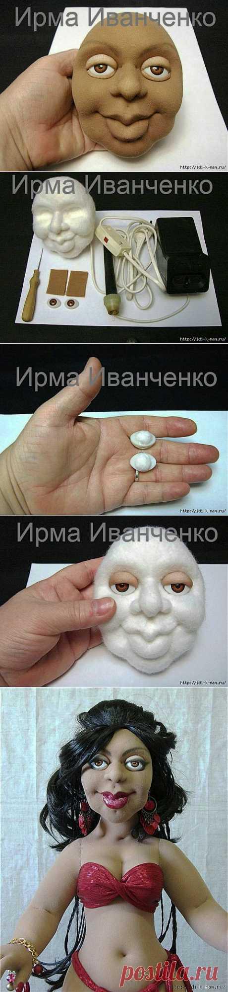 глаза для колготочной куклы .