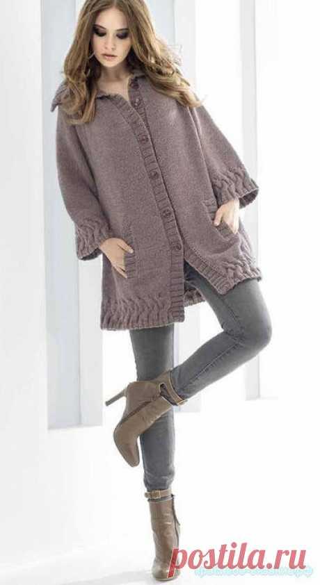 Жакет спицами — Красивое вязание